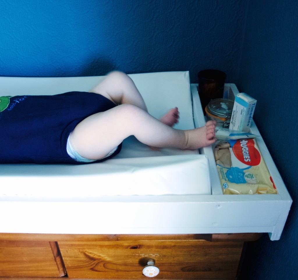 Lukas bedroom update: custom changing tray DIY