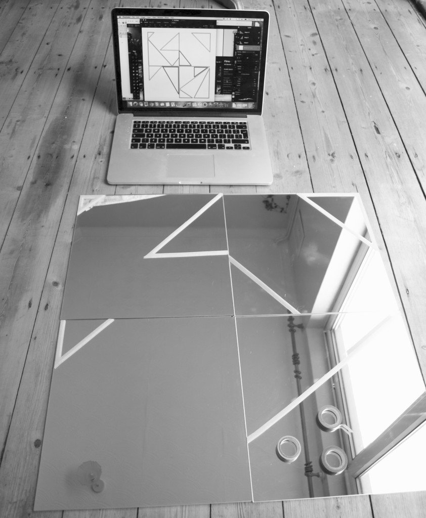 Geometric mirror DIY on the budget