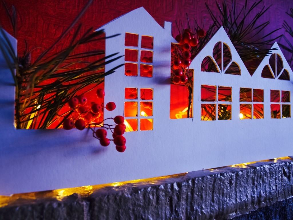 Christmass village decoration