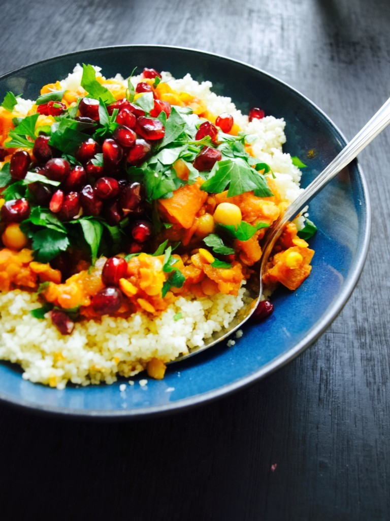 Sweet potato and chickpea moroccan style stew recipe