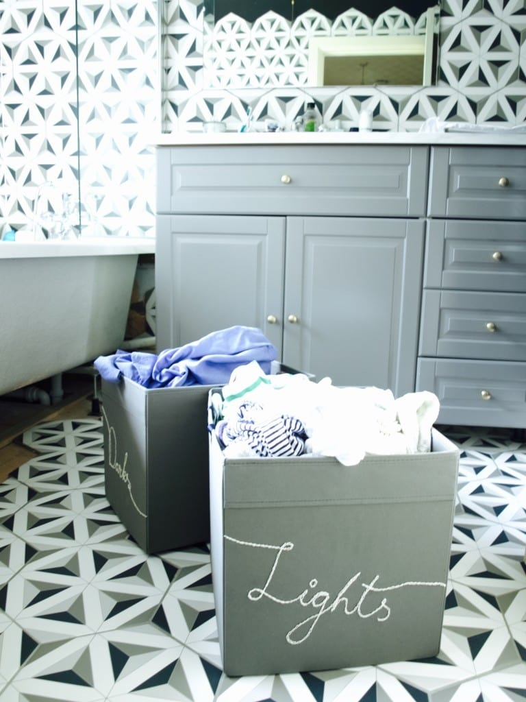 Ikea hack: custom laundry baskets
