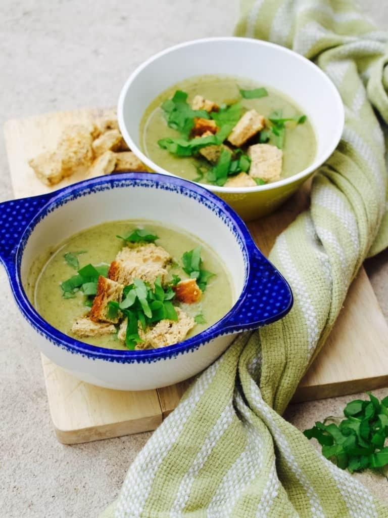 Broccoli, cumin and yogurt soup
