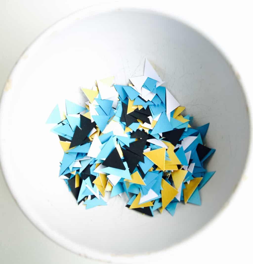 mini triangle confetti diy (no need for punch)