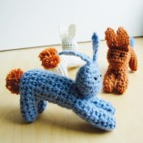 Crochet jumping bunnies