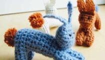 Crochet jumping bunnies