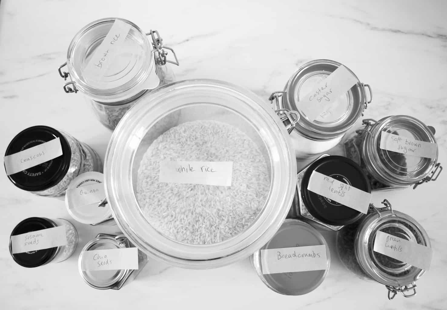 Kitchen organisation ideas: jars