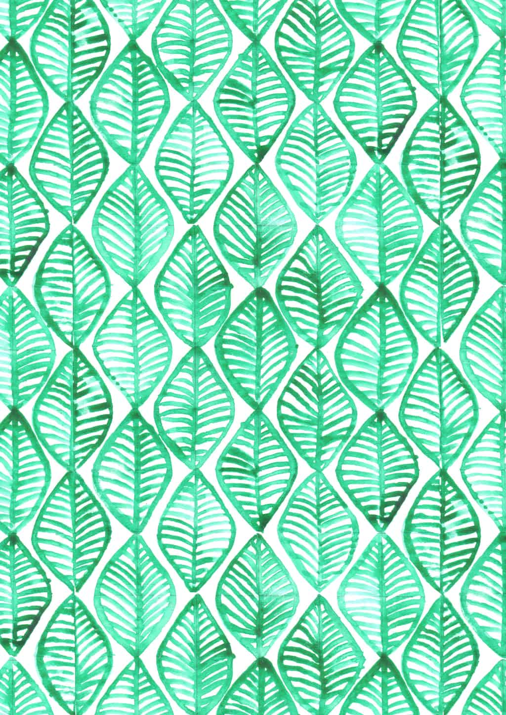 Repeating patterns with watercolour