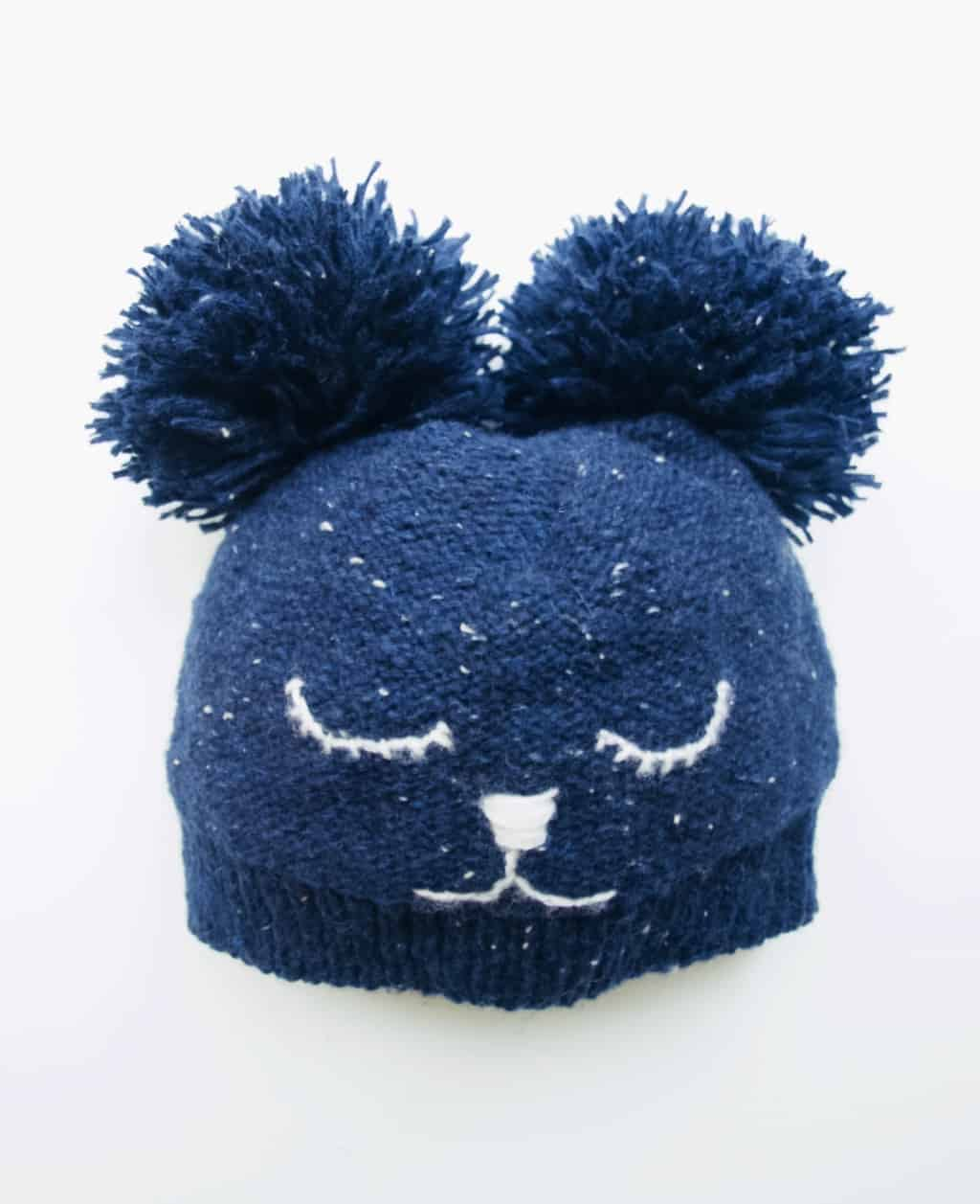 kids bear hat knitting instructions