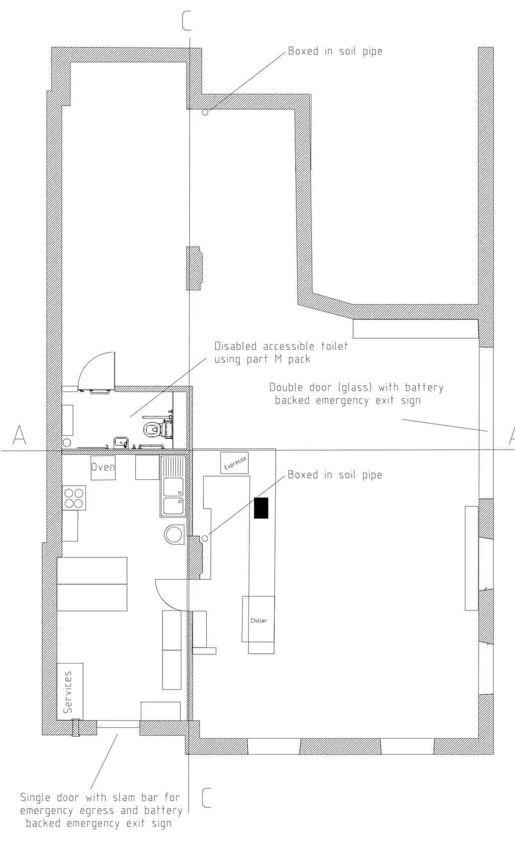 Proposed cafe plan